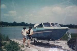 Ed & friend prepare to launch boat