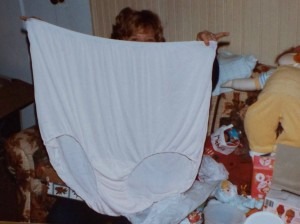 sister-in-law gets the Christmas panties(cir. 1980)