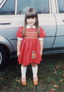 Brandy's first day of preschool in'82
