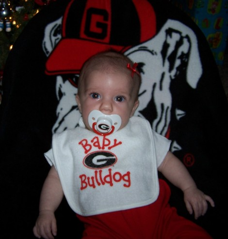 Go Dawgs!  We're from the south and we like to train our fans early...