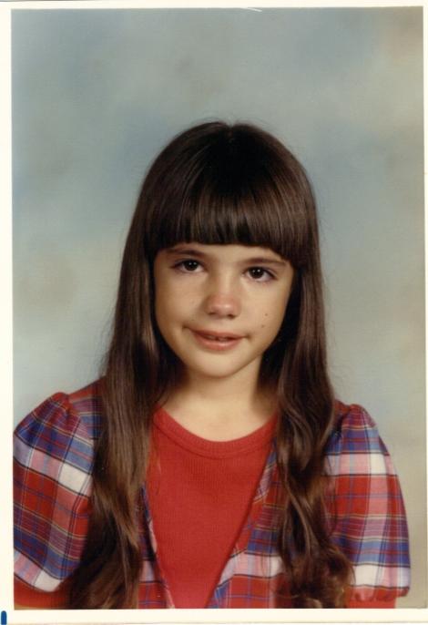 Brandy's third grade school photo